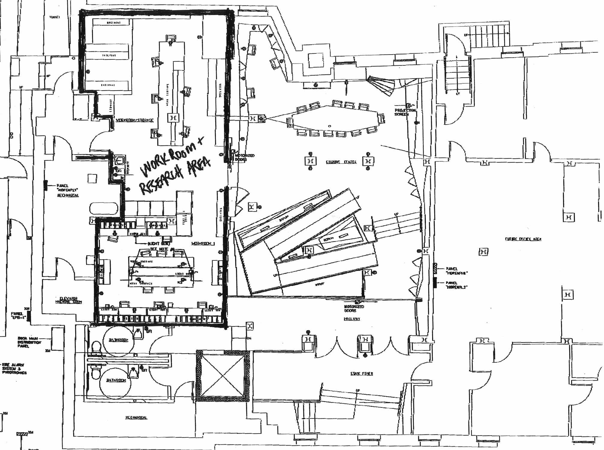 Dr. Harvey Cushing Center Architectural Plans.